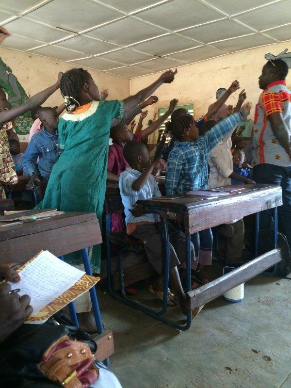 Visite de l'école primaire Mamadou Counta - Mali (janvier 2016) © IFADEM